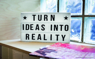 Turn ideas into reality (Photo by Mika Baumeister on Unsplash)
