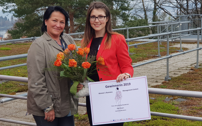 Katharina Schrenk gewinnt den Women's Business Management Contest.